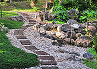 Stone steps leading to more garden area